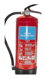 Dry Powder (DP) Fire Extinguisher- Is classed with ABC type. It has 1 kg, 2 kg, 6 kg, 12 kg and 45 kg sizes.